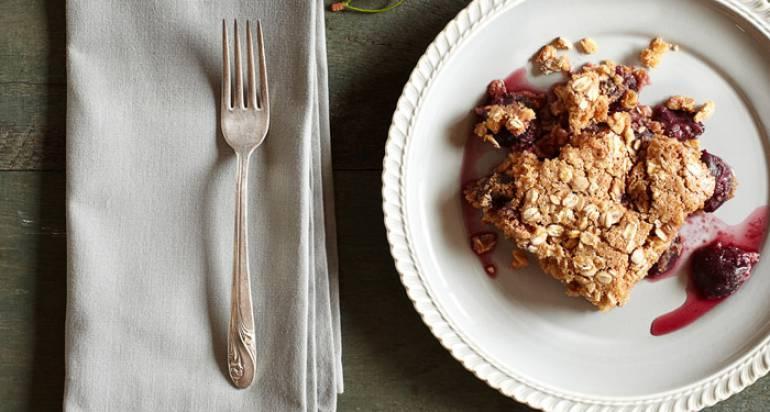 Śniadaniowe ciastko z czereśnią