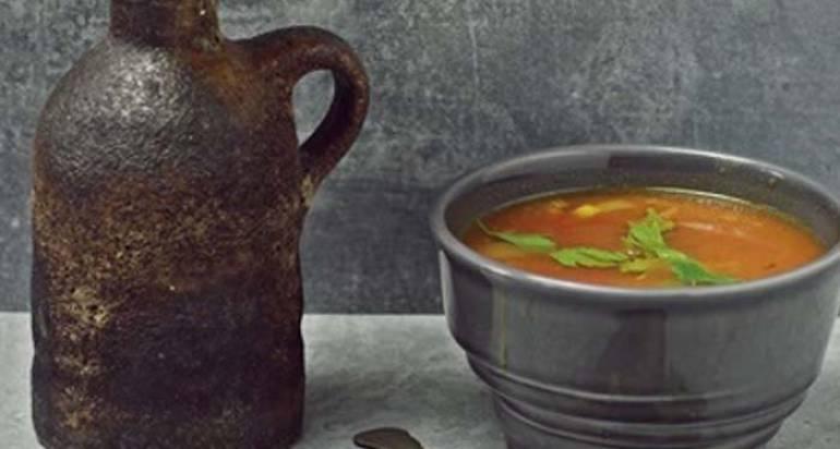 Zupa z dynią i soczewicą