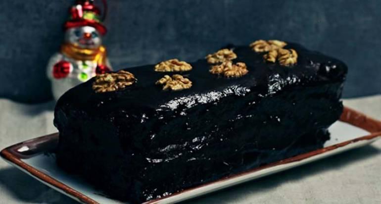 Piernik z powidłami i polewą czekoladową – wegański i bezglutenowy