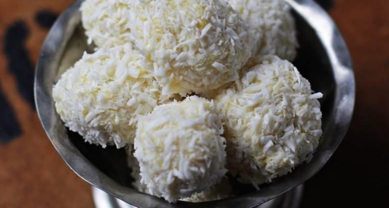 Jaglane pralinki kokosowe – bez glutenu i cukru!