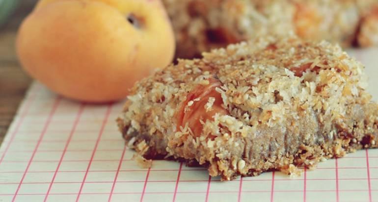 Podwójnie morelowe kwadraciki śniadaniowe (bez glutenu i dodanego cukru)