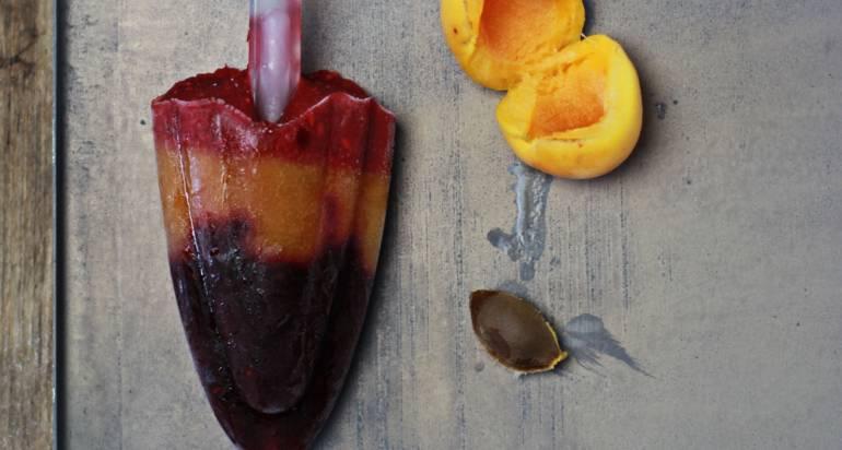 Owocowe lody w paski